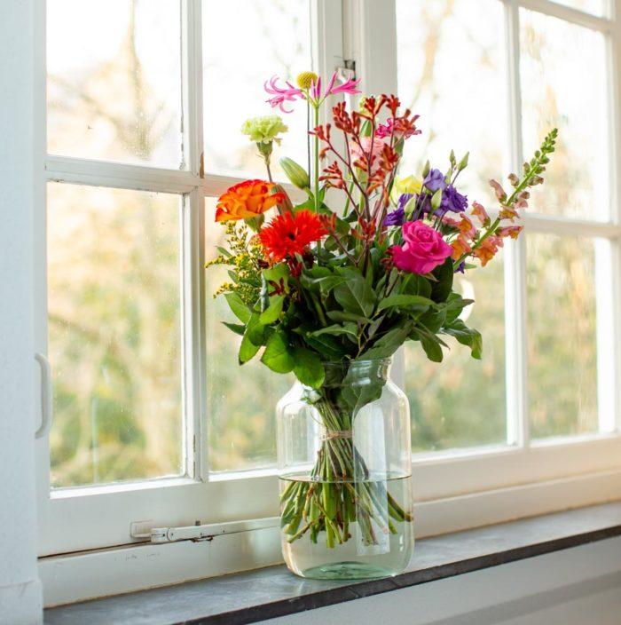 pluk de dag in het raam